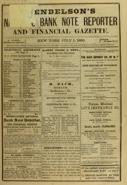 Mendelson's National Bank Reporter and Financial Gazette