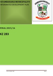 KZN382 Ntambanana Final IDP 2015 16
