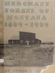 Merchant Tokens of Montana, 1889-1939