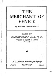 an examination of the merchant of venice by william shakespeare The merchant of venice by william shakespeare probably written between 1595-1598 comments by bob corbett may 2009 general note: in january 2009 i decided that i'd like to go back and read.