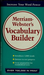 Merriam-Webster's vocabulary builder : Cornog, Mary W : Free