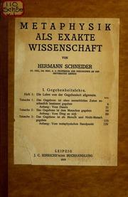Vol v.1: Metaphysik als exakte Wissenschaft.