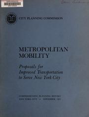 Metropolitan mobility : pro...