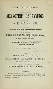 Mezzotint engravings; engravings of the early English school, in stipple, mezzotint and colours