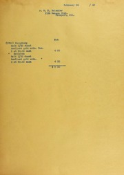 M.H. Bolender Invoices from B.G. Johnson, February 26, 1940, to May 10, 1940