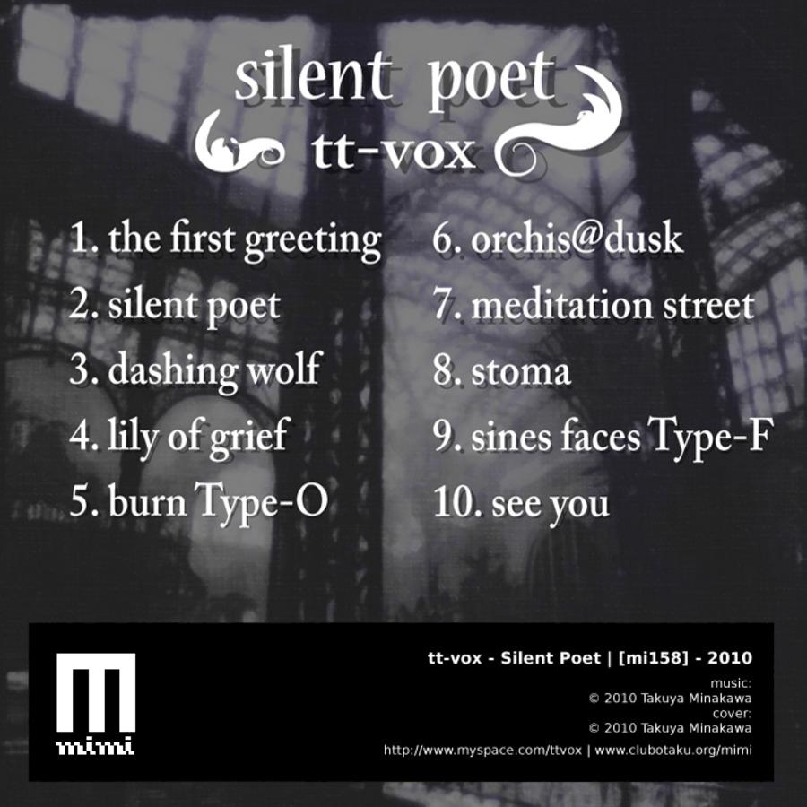 mi158] : tt-vox - Silent Poet : tt-vox : Free Download, Borrow, and