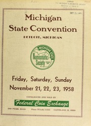 Michigan state numismatic society convention. [11/21-23/1958]