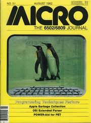 Micro 6502 Journal : Free Texts : Free Download, Borrow and