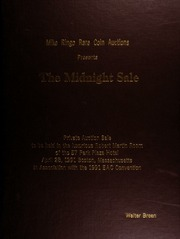 The midnight sale : private auction sale to be held in the luxurious Robert Martin Room of the 57 Park Plaza Hotel, April 28, 1991, Boston, Massachusetts, in association with the 1991 EAC Convention.