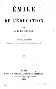 Émile; ou, De l-éducation