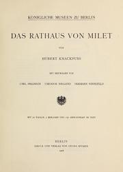 Vol 1, pt. 2: Milet : Ergebnisse der Ausgrabungen und Untersuchungen seit dem Jahre 1899 - egründet von Theodor Wiegand