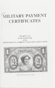 Collecting Military Payment Certificates
