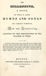 The Millennium, a Poem (Pratt) (1835)