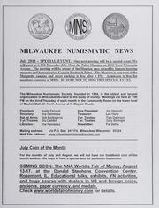 Milwaukee Numismatic News: July 2013