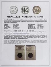 Milwaukee Numismatic News: November 2017