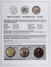 Milwaukee Numismatic News: March 2018