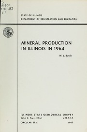 Mineral Production In Illinois In Busch Willis L Free - Illinois state geological survey