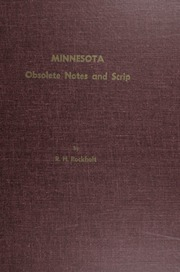 Minnesota Obsolete Notes and Scrip