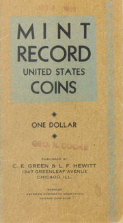 Mint Record United States Coins: One Dollar