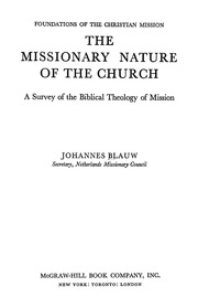 Johannes Blauw S The Missionary Nature Of The Church