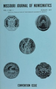 Missouri Journal of Numismatics, Vol. 2