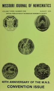 Missouri Journal of Numismatics, Vol. 3