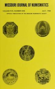 Missouri Journal of Numismatics, Vol. 5