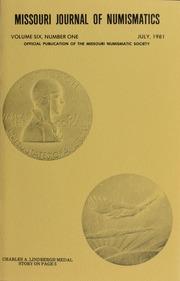 Missouri Journal of Numismatics, Vol. 6