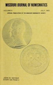 Missouri Journal of Numismatics, Vol. 8