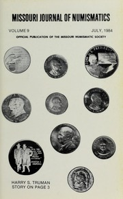 Missouri Journal of Numismatics, Vol. 9