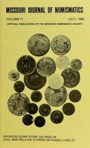 Missouri Journal of Numismatics, Vol. 11