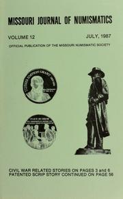 Missouri Journal of Numismatics, Vol. 12