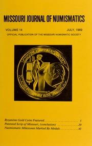 Missouri Journal of Numismatics, Vol. 14