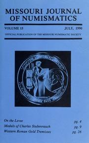 Missouri Journal of Numismatics, Vol. 15