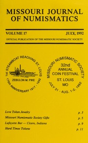 Missouri Journal of Numismatics, Vol. 17