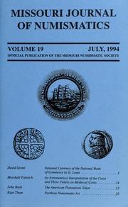 Missouri Journal of Numismatics, Vol. 19