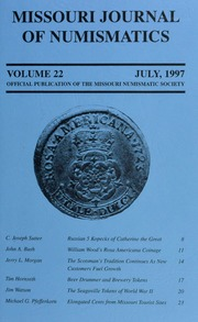 Missouri Journal of Numismatics, Vol. 22