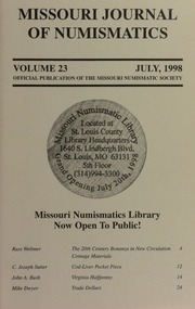 Missouri Journal of Numismatics, Vol. 23