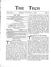The Tech - Volume 23 Issue 1