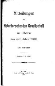 Vol nos. 1519-1550: Mitteilungen der Naturforschenden Gesellschaft in Bern