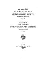 Vol 21: Mitteilungen des Deutschen Archaeologischen Instituts, Roemische Abteilung