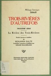 Vol 20: Mélanges historiques : études éparses et inédites de Benjamin Sulte