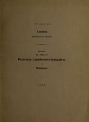 Mémoire au sujet de paroisses canadiennes-françaises à Windsor