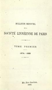 Vol v. 11-24 1874-78: Bulletin mensuel de la Societe linneenne de Paris.