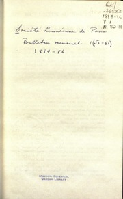 Vol v. 152-81 1884-86: Bulletin mensuel de la Societe linneenne de Paris.