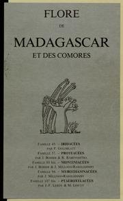 Vol fam 93bis: Montiniacees: Flore de Madagascar et des Comores plantes vasculaires - publiee sous les auspices du gouvernement general de Madagascar et sous la direction de H. Humbert.