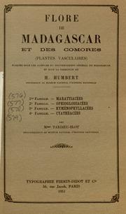 Vol fam 4: Cyatheacees: Flore de Madagascar et des Comores plantes vasculaires - publiee sous les auspices du gouvernement general de Madagascar et sous la direction de H. Humbert.