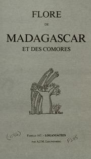 Vol fam 167: Loganiacees: Flore de Madagascar et des Comores plantes vasculaires - publiee sous les auspices du gouvernement general de Madagascar et sous la direction de H. Humbert.