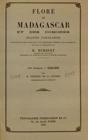 Vol fam 166: Oleacees: Flore de Madagascar et des Comores plantes vasculaires - publiee sous les auspices du gouvernement general de Madagascar et sous la direction de H. Humbert.