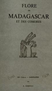 Vol fam 164: Sapotacees: Flore de Madagascar et des Comores plantes vasculaires - publiee sous les auspices du gouvernement general de Madagascar et sous la direction de H. Humbert.